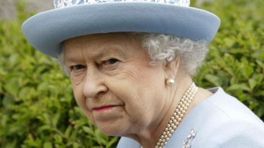 "Not amused: Queen Elizabeth II was irritated policemen were ""helping themselves to nuts""."