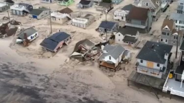 The coastline of New Jersey in the aftermath of Sandy.