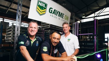 The NRL had its own float parading in the Mardi Gras for the first time in 2016.