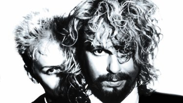 It all began in Wagga: Annie Lennox and Dave Stewart of the Eurythmics.