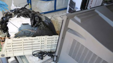 Police found $12 million worth of 'ice' in the back of a television.