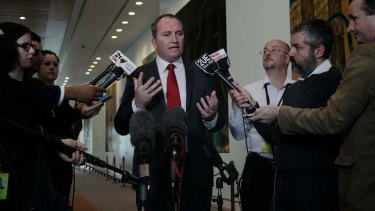 "Agriculture Minister Barnaby Joyce: ""I cannot possibly see how it is in the national interest."""