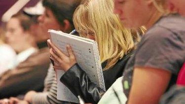 Working full-time can impinge on university studies.