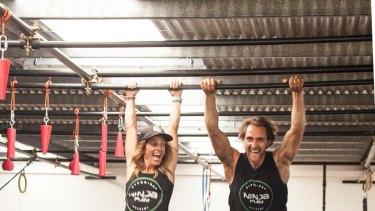 Lisa Parkes and Lex Richards at the Ninja Play Academy.
