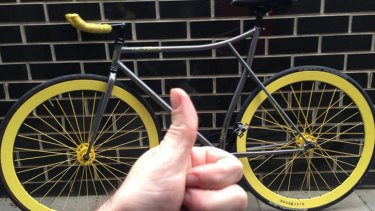 The owner of the bike later showed his gratitute after being reunited with it.