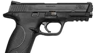 New guns ... Victoria Police is switching to .40 calibre Smith and Wesson M & P (military and police) semi-automatic pistols.