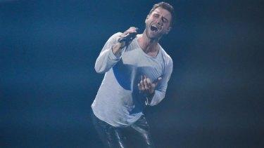 Eurovision winner Mans Zelmerloew of Sweden.