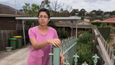 Greensborough resident Tamara whose house could be acquired.