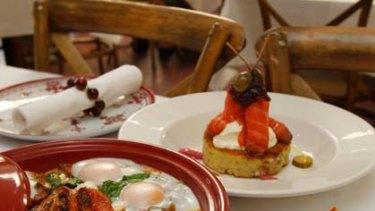 Rise and shine ... Kazbah in Balmain wins the Best Breakfast award. Above: Vegie breakfast tagine.