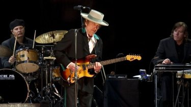 Bob Dylan on stage in 2011.