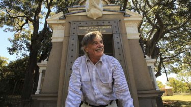 Pet project: Local historian Max Solling at the Glebe war memorial in Foley Park.