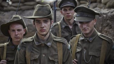 A scene from the recent TV series Gallipoli, also written by novelist Christopher Lee.