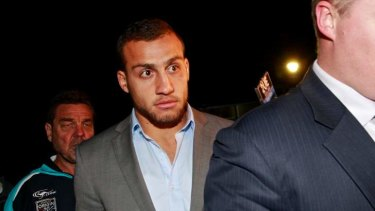 High profile: the arrests of Blake Ferguson and James Tamou have hogged the headlines, but the number of alcohol-related incidents in the NRL is down 75 percent since 2009.