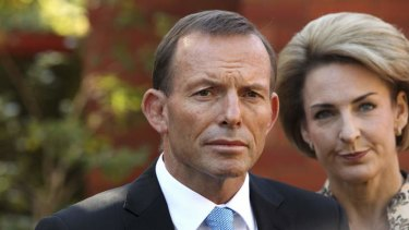 Prime Minister-elect Tony Abbott pictured in May last year with WA Senator Michaelia Cash.