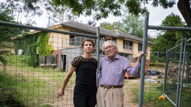 Resident Luisa Capezio and historian Alan Foskett say planning codes for Campbell allow single homes like this one to be knocked down and replaced with up to four dwellings.