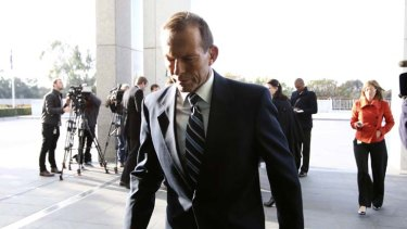 """Criticised """"a drowning government"""" ... Tony Abbott."""