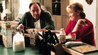 Complex series, such as <I>The Sopranos</I>, starring James Gandolfini and Edie Falco, contributed to the rise of recaps.