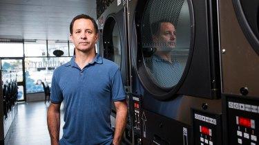 Sam Borazio at his coin laundry.
