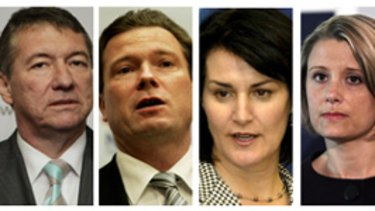 Who's the tops?... voters were asked to choose Della Bosca, Rees, Keneally, Tebbutt, Robertson or Sartor.