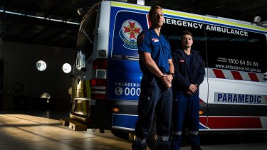 Paramedic team Scott Drysdale (at left) and Sebastian Smialy.