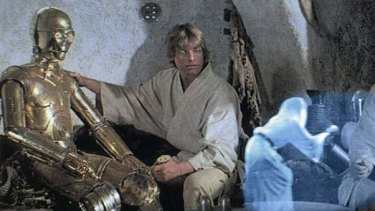 """The line """"Help me Obi-Wan Kenobi, you're my only hope"""" was made famous by Princess Leia's hologram in the original Star Wars film."""