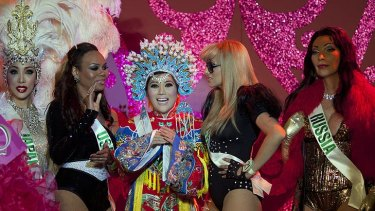 Miss China, Lucky, wins the talent competition at Miss Tiffany's Universe 2011.