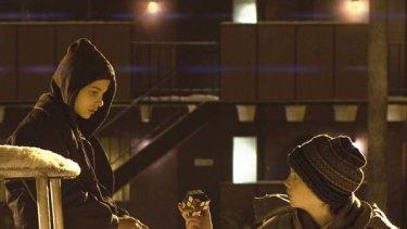 More conventional ... Chloe Moretz and Kodi Smit-McPhee.