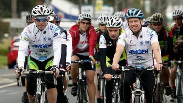 Back-pedalling ... Tony Abbott on the Pollie Pedal.