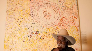 Life lines … Telstra prize winner Dickie Minyintiri.