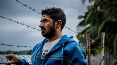 Behnam Satah, a Kurdish refugee, on Manus Island. The allegations of crimes against humanity, including torture, deportation, persecution, and other inhumane acts, stem from Australia's post-9/11 policy toward asylum-seekers known as the 'Pacific Solution'.