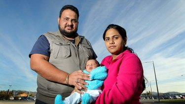 Victim: Bhawna Verma with her partner Harvinder Mehta and their son Kiyan Mahta.