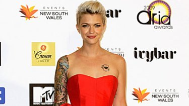 Party girl ... Ruby Rose at the 2009 ARIA Awards.