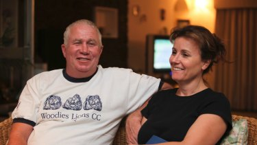 Senior Zimbabwean MDC opposition official Roy Bennett, left, and his wife Heather, in Mutare Zimbabwe in 2009.