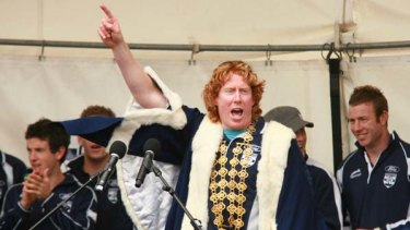 Cameron Ling as the mayor of Geelong after winning the flag in 2007.