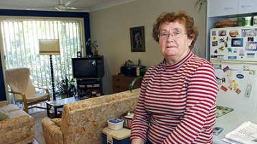 Facing eviction ... Astrid Bieler in her home in Tweed Heads, where she has lived for 10 years.