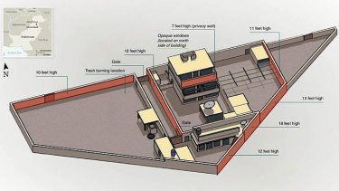 A Pentagon plan of the Osama compound.