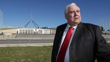 Clive Palmer awaits a decision about his political future.
