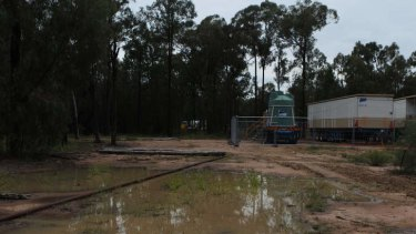 Coal seam gas wastewater operation site in the Pilliga.