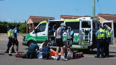 Two cyclists have been struck down by a vehicle in a suspected hit and run in the Esperance suburb of Castletown.