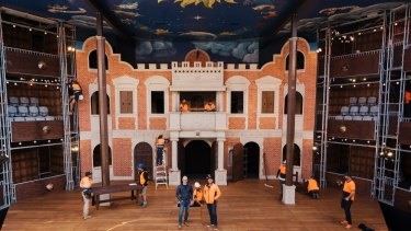 Tradesmen put the finishing touches to Sydney's newest, oldest theatre.