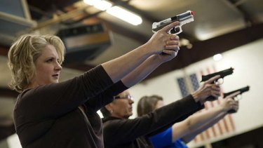 Booming popularity ... scenes at an all-women shooting class in Oklahoma.