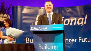 Prime Minister John Key claims victory for his National Party in the 2011 New Zealand poll.