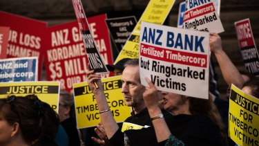 Thousands of people were caught up in the collapse of Timbercorp, the managed investment scheme spruiker whose finance arm was substantially bankrolled by ANZ.