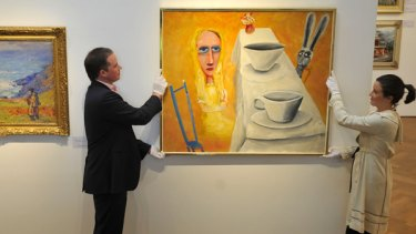 Charles Blackman's Mad Hatter's Tea Party at Sotheby's in Armadale.