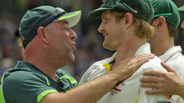 The Boof effect: Shane Watson was just one of many Australian players who paid tribute to Lehmann, saying it was the most special tchanging room he'd ever been involved in.