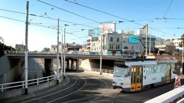 St. Kilda Junction is a tangled, user-unfriendly disappointment at the end of leafy St Kilda Road.