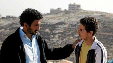 Tsahi Halevi as Razi and Shadi Mar'i as Sanfur.