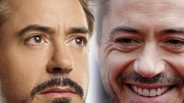 Spot the difference ... Robert Downey Jnr.