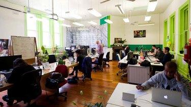 Clocking on: The light-filled Hub Melbourne site.