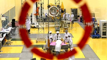 Ambitious and risky space mission: Scientists and engineers at the Indian Space Research Organisation's (ISRO) satellite centre in Bangalore are sending a probe to Mars which was conceived in just 15 months on a tiny budget.
